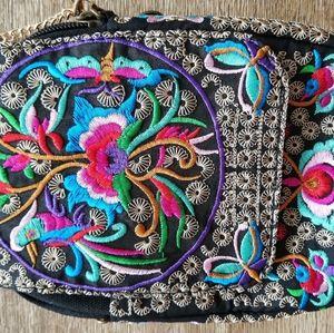 Embroidered cross bag